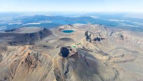 Tongariro红色火山口 免版税图库摄影