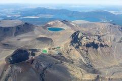 Tongariro红色火山口 库存照片