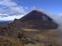 Tongariro. One of the best tracks in NZ,chanching weather,great wiev from vulcanics hills Stock Photo