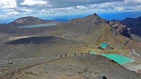 Tongariro alpin cirkel Arkivfoton