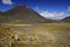 Tongariro alpin korsning i den norr ön Nya Zeeland royaltyfri bild