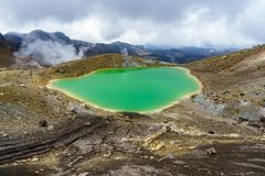 Tongariro alpine crossing,emerald lakes,volcano,new zealand 9 royalty free stock photography