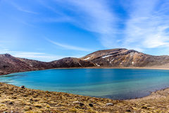 Tongariro Alpine Crossing, New Zealand. One of the best track in the world, one day or multiple days. This is one of the Emerald lake on top of the volcano Stock Photo