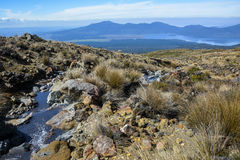 Tongariro Alpine Crossing New Zealand - view over Lake Rotoaira, close to Ketetahi hut. Tongariro Alpine Crossing New Zealand - view over Lake Rotoaira, close to Royalty Free Stock Photography