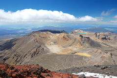 Tongariro Alpine crossing scenery Stock Photo
