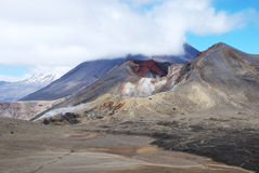 Tongariro Alpine crossing scenery Stock Photography