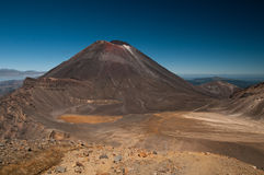 Tongariro alpine crossing, summit. Photo taken on the summit of the regular hike on the tongariro alpine crossing Stock Images