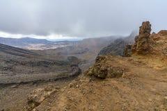 Tongariro alpine crossing,volcano,new zealand 1. Tongariro alpine crossing,volcano crater,new zealand stock photos