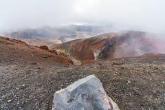 Tongariro alpine crossing,volcano,new zealand 7. Tongariro alpine crossing,volcano crater,new zealand stock photography