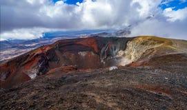 Tongariro alpine crossing,volcano,new zealand 10. Tongariro alpine crossing,volcano crater,new zealand stock photography