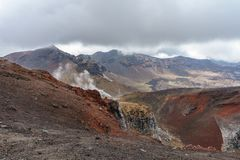 Tongariro alpine crossing,volcano,new zealand 13. Tongariro alpine crossing,volcano crater,new zealand stock photos