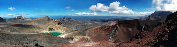 Tongariro che attraversa grande panorama Fotografia Stock