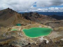 Tongariro crossing. Emerald lakes on tongariro crossing Stock Images