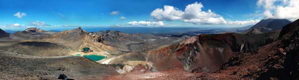 Tongariro Crossing Grand Panorama Stock Photo