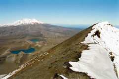Tongariro crossing, New Zealand stock images