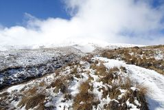 The Tongariro Crossing, New Zealand stock photo