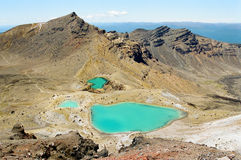 Tongariro lakes, New Zealand Stock Images