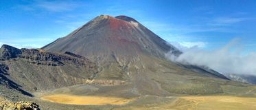 Tongariro Mount Doom New Zealand. Volcano Mountain with Blue Sky used to film Mount Doom in New Zealand royalty free stock images