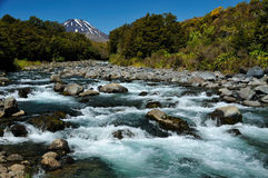 Tongariro National Park. Landscape in the Tongariro National Park, New Zealand royalty free stock images