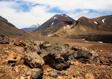 Tongariro National Park. Mount Tongariro and Mount Ruapehu In the Tongariro National Park New Zealand Royalty Free Stock Photography