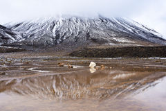 Tongariro National Park. Hiking day at Tongariro National Park, New Zealand Stock Photography