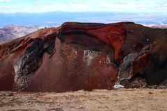Tongariro National Park. Inside the impressive Red Crater Stock Images
