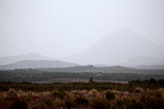 Tongariro National Park. Misty foggy Day Scenic Royalty Free Stock Photos