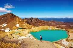 Tongariro National Park, New Zealand. Emerald Lakes, Tongariro National Park, New Zealand Stock Photo