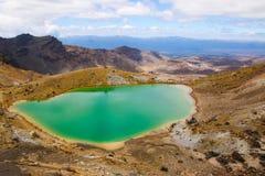 Tongariro National Park. One of the beautiful Emerald Lake Royalty Free Stock Photo