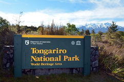 Tongariro Nationalpark Lizenzfreies Stockbild