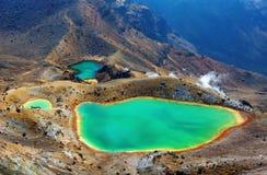 Tongariro Nouvelle-Zélande de croisement alpin photo libre de droits