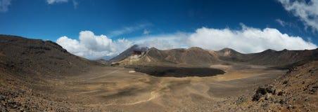 Tongariro Nova Zelândia de cruzamento alpina Fotografia de Stock Royalty Free