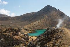 Tongariro Nova Zelândia de cruzamento alpina Imagens de Stock