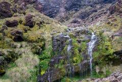 Tongariro Soda Springs que cruza alpino Imágenes de archivo libres de regalías