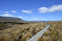 Tongariro trail in New Zealand. Royalty Free Stock Photography