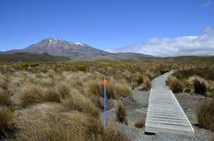Tongariro trail in New Zealand. Stock Photo