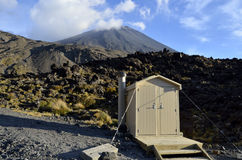 Tongariro trail in New Zealand. Royalty Free Stock Images