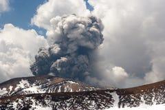 Tongariro Volcanic Eruption. Eruption from the Te Maari craters in Tongariro National Park, New Zealand North Island Novermber 20th 2012 Stock Images