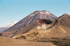 Tongariro Volcanoes, New Zealand stock photo