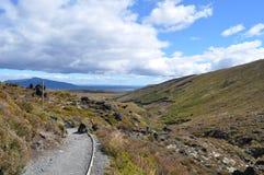 tongariro wysokogórski skrzyżowanie Fotografia Royalty Free