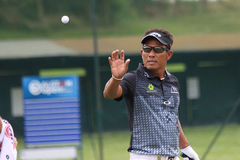 Tongchai Jaidee at The French golf Open 2013. GOLF NATIONAL GOLF COURSE, GUYANCOURT, FRANCE -  JULY 04, 2013 Stock Image