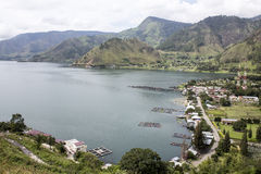 Tongging village and the Lake Toba Stock Image