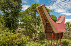 Tongkonan houses, Torajan buildings, Tana Toraja, Sulawesi Stock Image