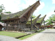 Tongkonan Toraja Royaltyfria Bilder