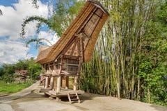 Tongkonan traditional rice barn Stock Images