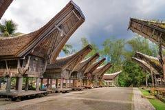 Tongkonan traditional rice barns and house Stock Photo
