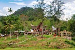 Tongkonan traditional village Kete Kesu Stock Photos