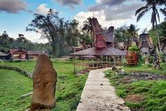 Tongkonan traditional village Kete Kesu royalty free stock image