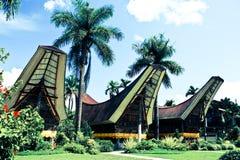 Tongkonan. Is a traditonal house from Tana Toraja, South Sulawesi, Indonesia Stock Image