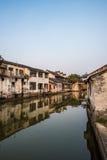 tongli,古老村庄老镇在苏州 库存照片